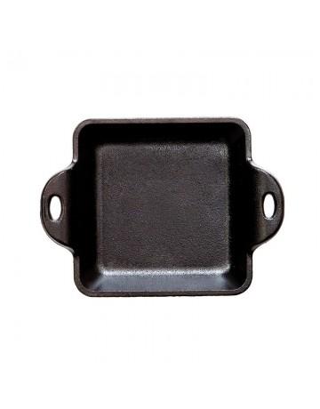 Μαντεμένιο Τετράγωνο σκεύος / δίσκος σερβιρίσματος  (0.30lt)  Δ: 16,51 cm - LODGE®  HMSS