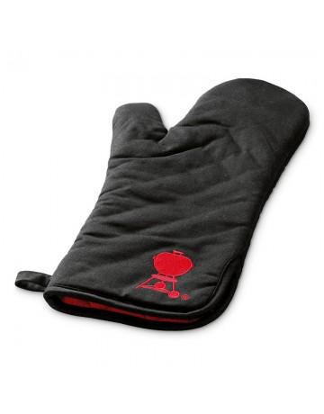 Μαύρο γάντι ψησίματος Weber με σχέδιο κόκκινης ψησταριάς - 6472