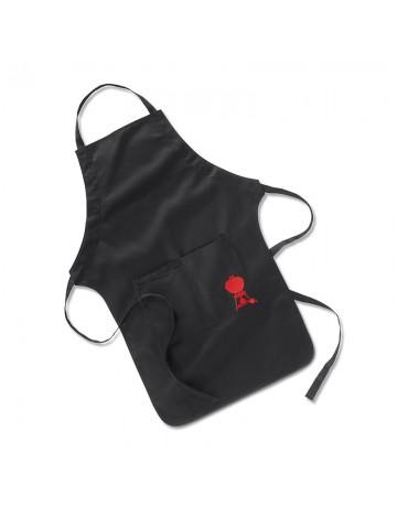 Μαύρη ποδιά κουζίνας Weber με κόκκινη ψησταριά - 6474