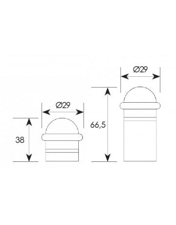 Στόπερ πόρτας δαπέδου Zogometal 957/01