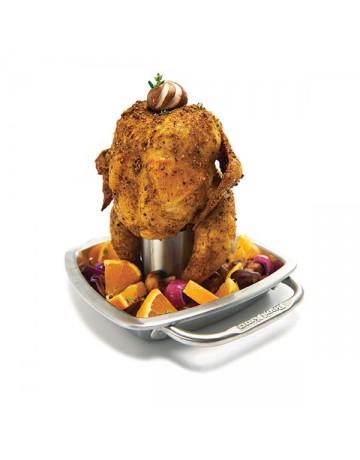 Βάση Κοτόπουλου με ταψί Inox - Broil King®  69133