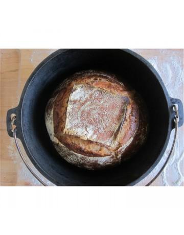 Μαντεμένια Κατσαρόλα  (8,52lt) με καπάκι και σπειροειδή - LODGE®  L12DO3