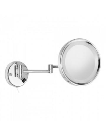 Επιτοίχιος μεγεθυντικός καθρέφτης Χ4 με LED Sanco  A3-MRLED-701