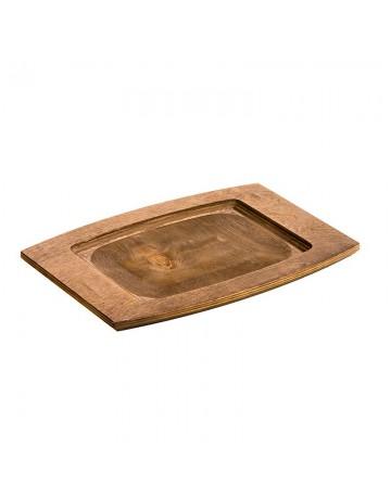 Ορθογώνια ξύλινη βάση  Δ 35εκ - LODGE® UCPU