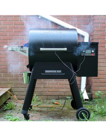 Ironwood 650 Pellet Grill -Traeger®  (Πληρωμή έως 24 άτοκες δόσεις) TFB65BLEC  BLACK